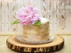 Scraped spun gold anniversary cake