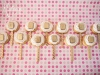 Monogrammed cookie pops