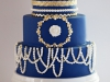 Navy, gold, and pearls....